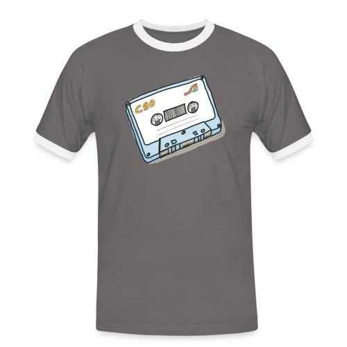 Cassette - Männer Kontrast-T-Shirt