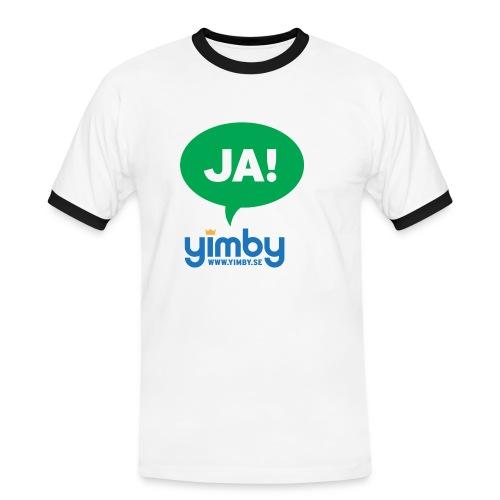 ja green - Kontrast-T-shirt herr
