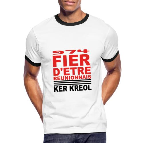 Fier d'etre reunionnais - T-shirt contrasté Homme