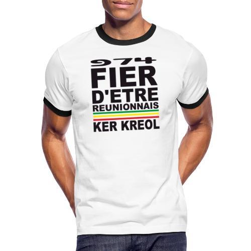 974 ker kreol fier et culture - T-shirt contrasté Homme