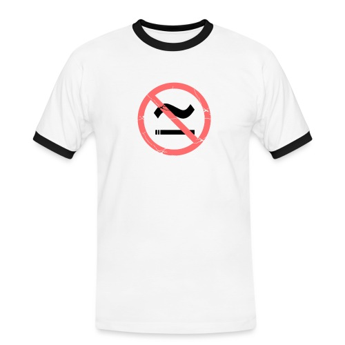 The Commercial NO SMOKING (Salmon) - Men's Ringer Shirt