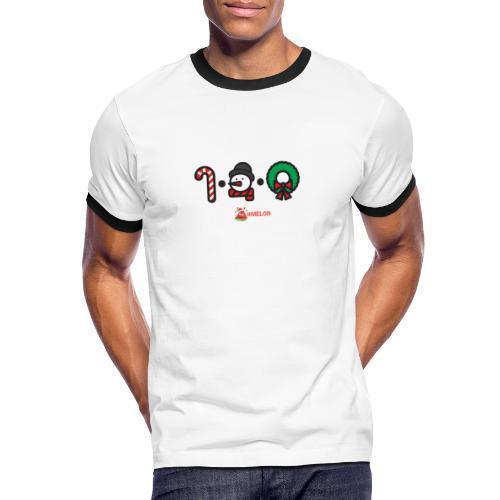 Weihnachtslogo mit melon - Männer Kontrast-T-Shirt