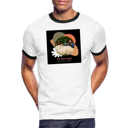 Evneverk Sheep Design - Kontrast-T-skjorte for menn