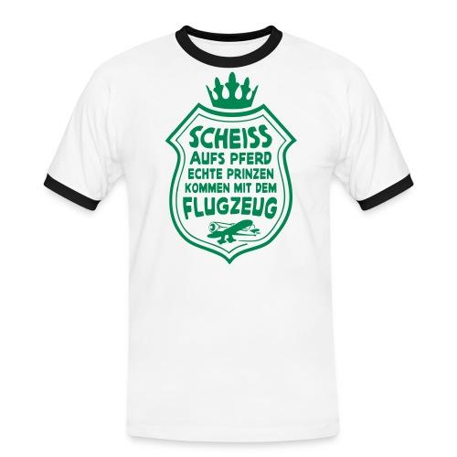Scheiss aufs Pferd - Männer Kontrast-T-Shirt