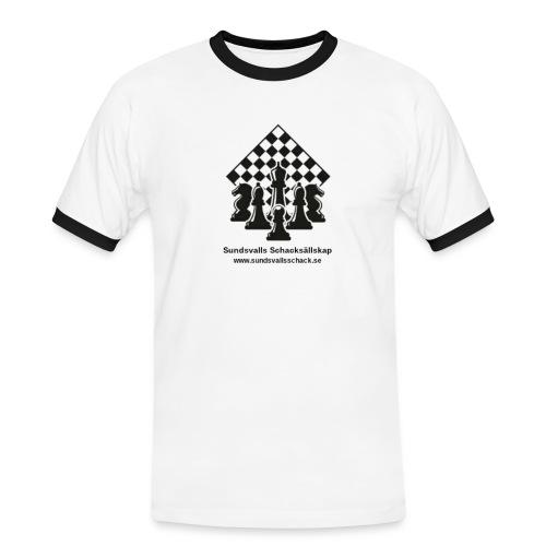 Sundsvalls Schacksällskap - Kontrast-T-shirt herr