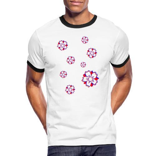 Sakura Psycho - T-shirt contrasté Homme