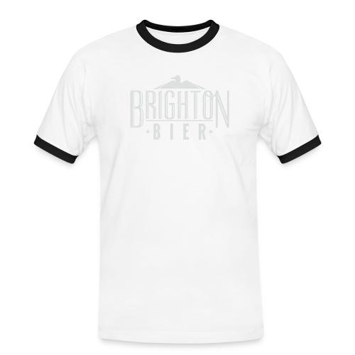 brighton bier logo white - Men's Ringer Shirt