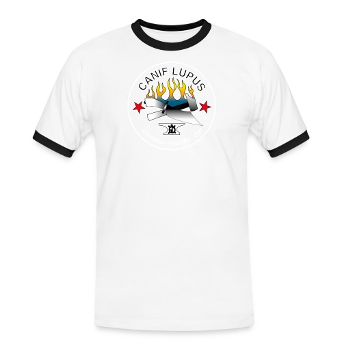 lupushighwhite png - T-shirt contrasté Homme