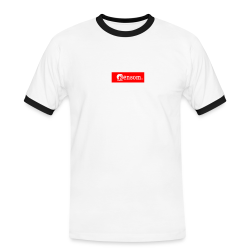 Ensom - Kontrast-T-skjorte for menn