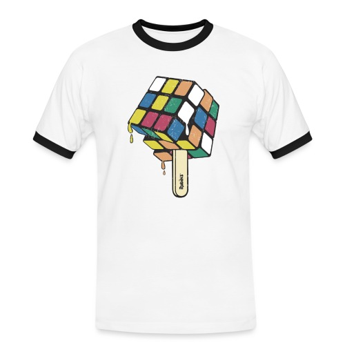 Rubik's Cube Ice Lolly - Men's Ringer Shirt