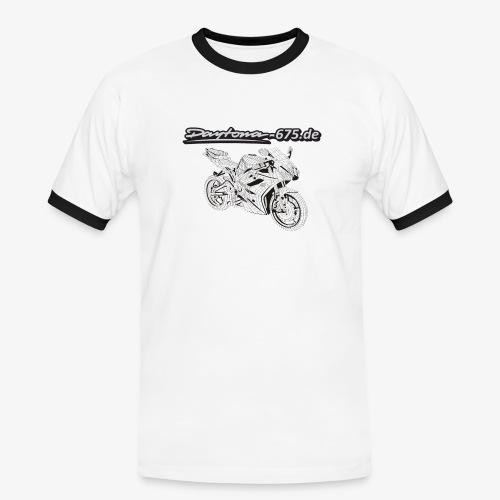 Daytona Moped Grau Kopie png - Männer Kontrast-T-Shirt