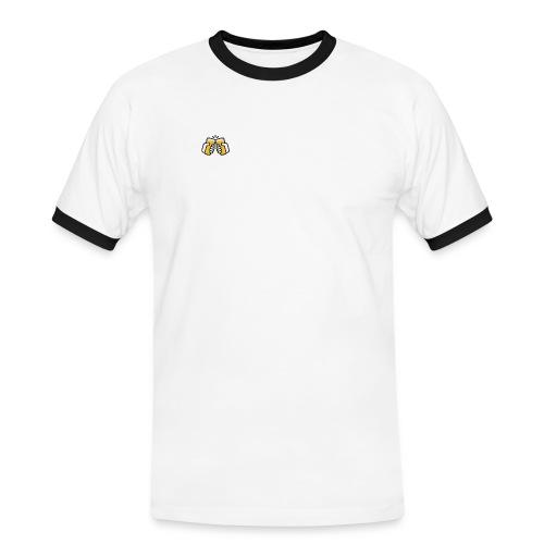 craftbeerglas transparent - Männer Kontrast-T-Shirt