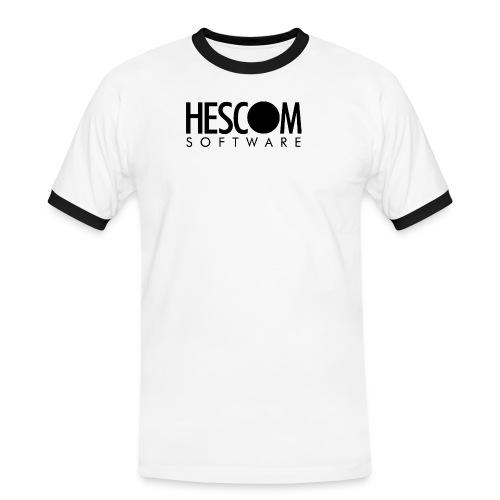 hescomlogo monochrom - Männer Kontrast-T-Shirt