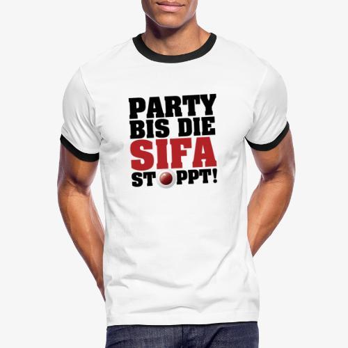 PARTY BIS DIE SIFA STOPPT 2 - Männer Kontrast-T-Shirt