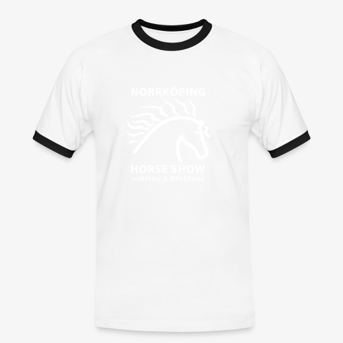NiHS_1-colour - Kontrast-T-shirt herr
