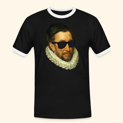 Fijn Uitgedoste Barbaar (zonder tekst) - Mannen contrastshirt