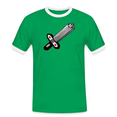Logo PlayGame35 - Maglietta Contrast da uomo