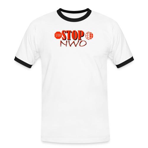 STOPNWO1 - Koszulka męska z kontrastowymi wstawkami