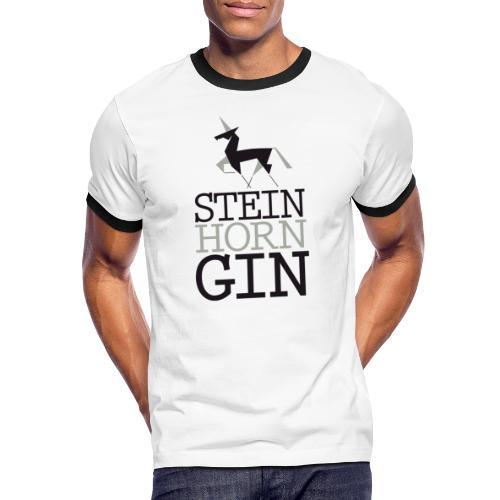 Steinhorn Gin - Männer Kontrast-T-Shirt