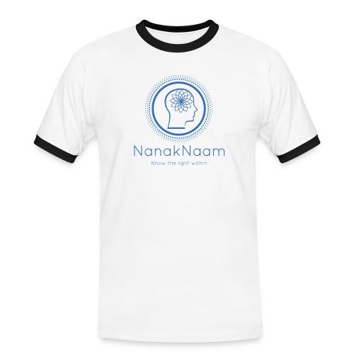 Nanak Naam Logo and Name - Blue - Men's Ringer Shirt