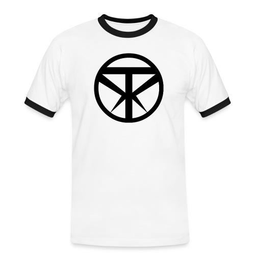 Tridex Logo Black - Men's Ringer Shirt