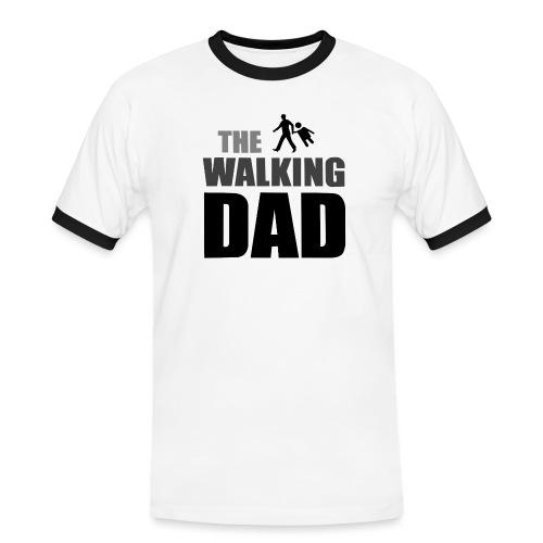 the walking dad auf dem Weg in die lustige Bar - Männer Kontrast-T-Shirt