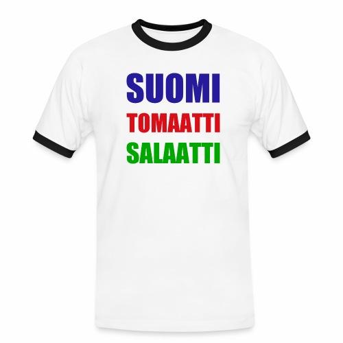 SUOMI SALAATTI tomater - Kontrast-T-skjorte for menn