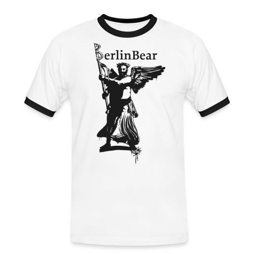 BerlinBear Logo - Männer Kontrast-T-Shirt