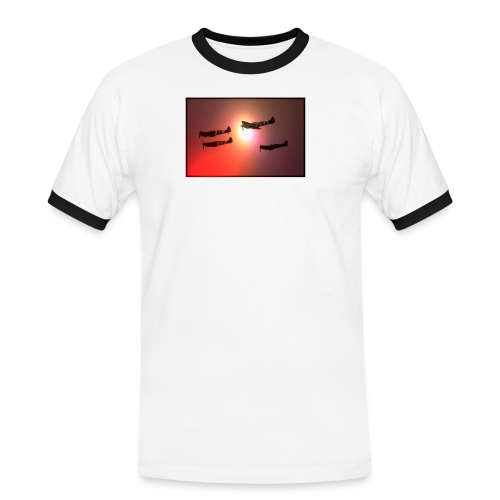4 Spitfires in setting sun - Men's Ringer Shirt