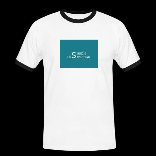 simple. abstraction. Logo - Männer Kontrast-T-Shirt