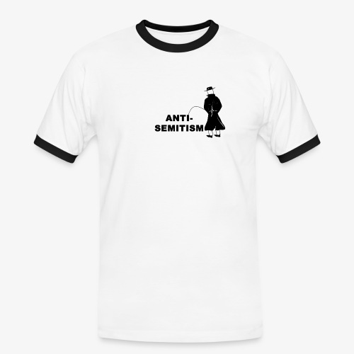 Pissing Man against anti-semitism - Männer Kontrast-T-Shirt