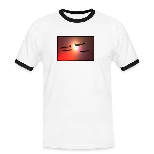4 Spitfires in setting sun - Men's Ringer Shirt