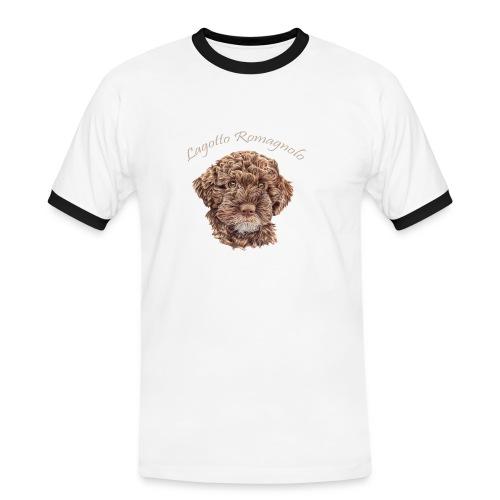 Lagotto Romagnolo med text - Kontrast-T-shirt herr