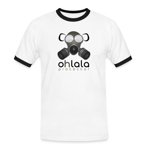OHLALA PROTECTOR BLK - T-shirt contrasté Homme
