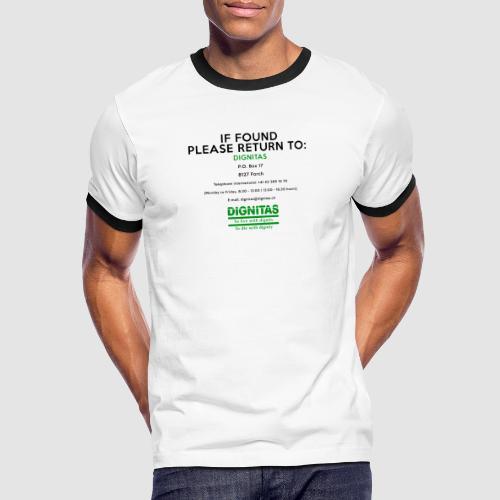 Dignitas - If found please return joke design - Men's Ringer Shirt