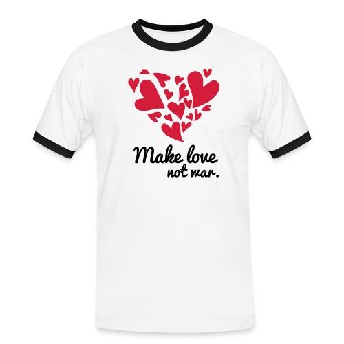 Make Love Not War T-Shirt - Men's Ringer Shirt