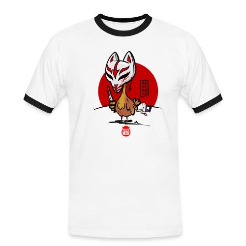 BeVegeOr ... chickenwar - Men's Ringer Shirt