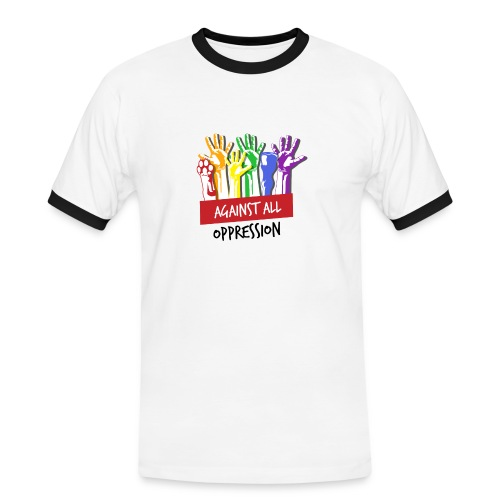 Against All Oppression - Mannen contrastshirt