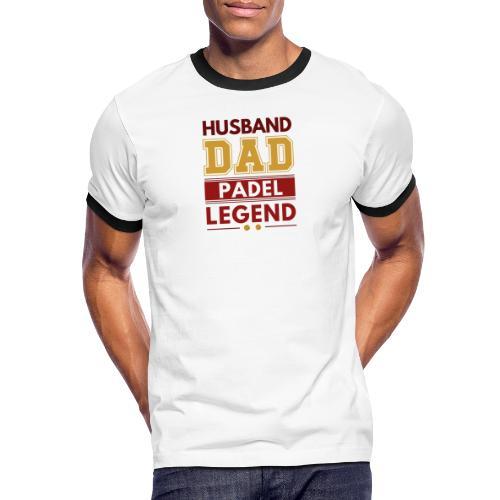 Man Pappa Padel Legend - Kontrast-T-shirt herr