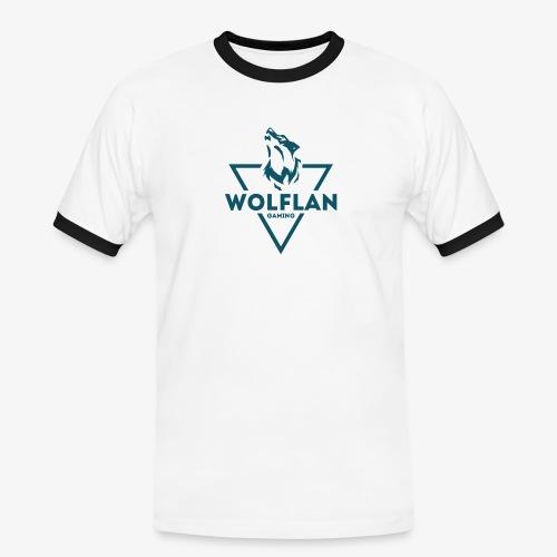 WolfLAN Logo Gray/Blue - Men's Ringer Shirt