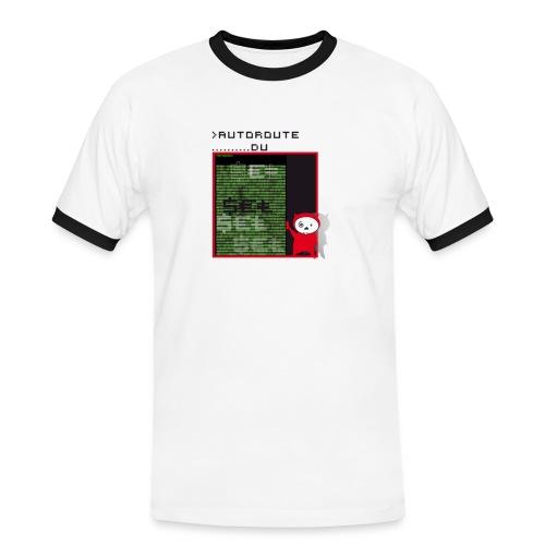 autoroute - T-shirt contrasté Homme