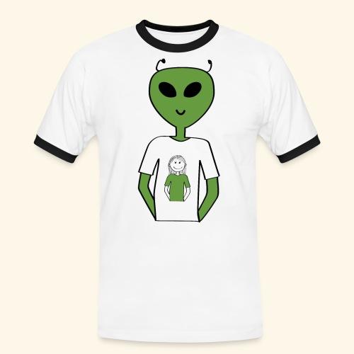 Alien human T-shirt T-shirt - Kontrast-T-shirt herr