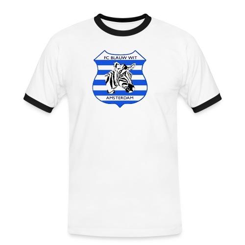 blauwwitadamzebra1 - Mannen contrastshirt