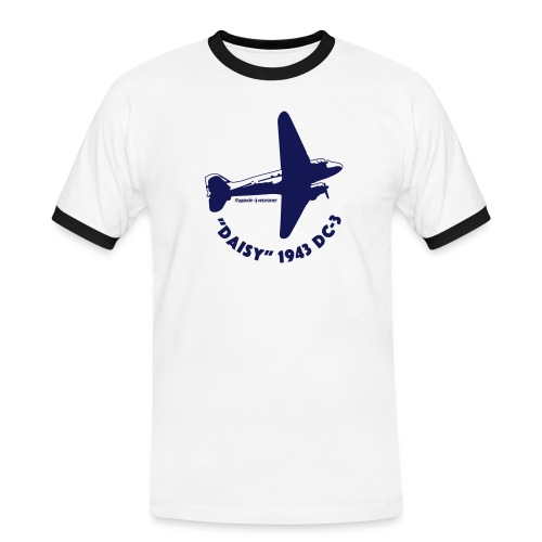 Daisy Flyover 1 - Kontrast-T-shirt herr