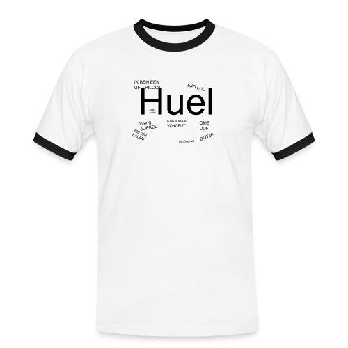 HUEL - Mannen contrastshirt