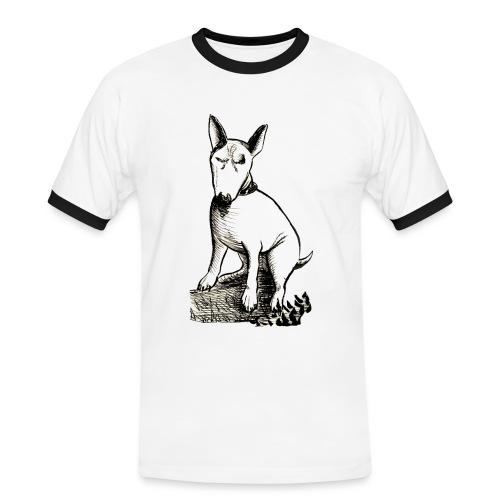 Bull Terrier Seduto - Men's Ringer Shirt