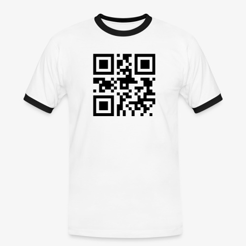 QR Code Unique - Men's Ringer Shirt