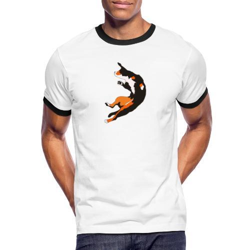 Entlebucher Hopp - Kontrast-T-shirt herr