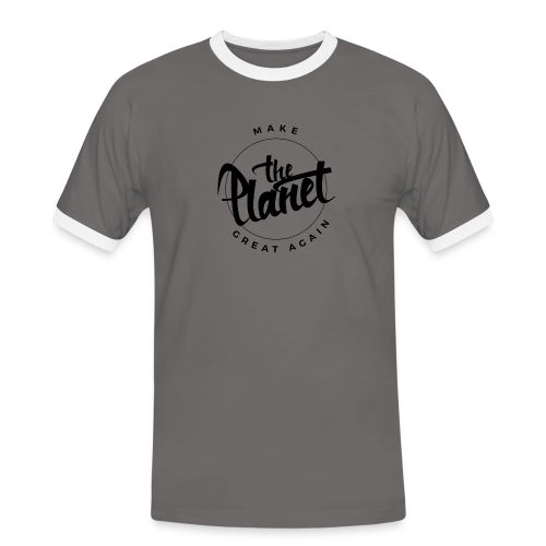 MakeThePlanetGreatAgain Organic Shirt White - Men's Ringer Shirt
