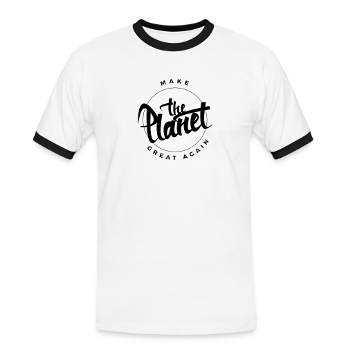 MakeThePlanetGreatAgain Organic Shirt White - Men's Ringer Shirt